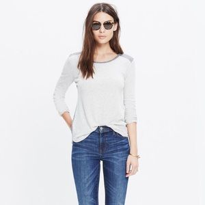 - Madewell - Colorblock long sleeve tee